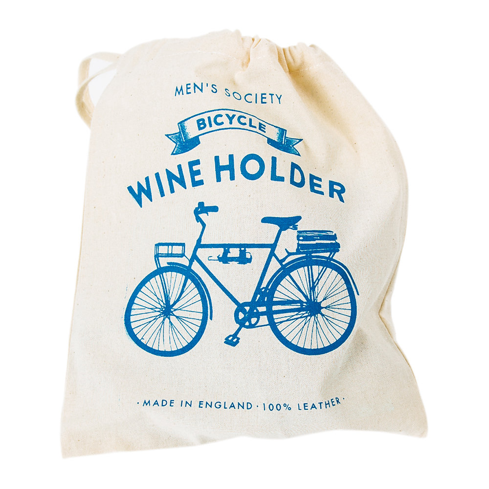 Men's Society - Bicycle Leather Wine Bottle Holder