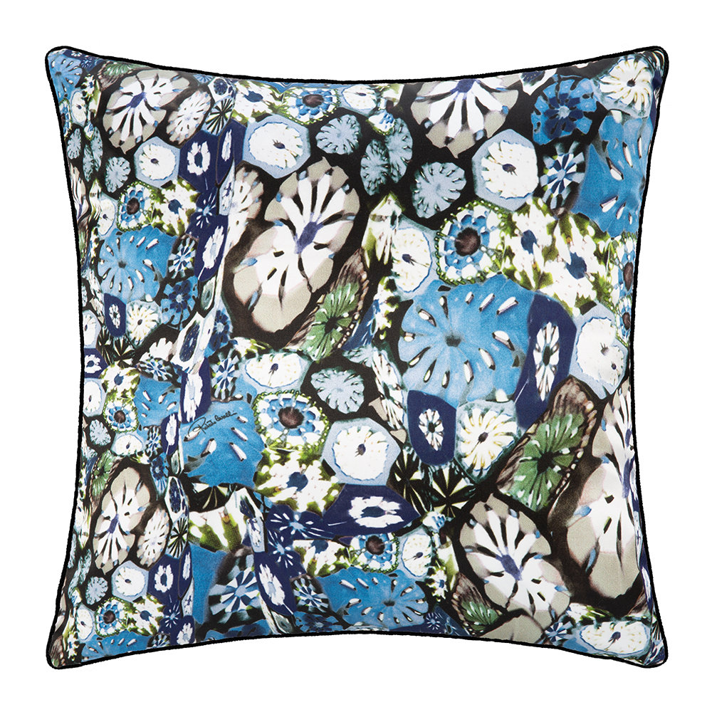 Roberto Cavalli - Murrine Silk Cushion - 40x40cm - Blue