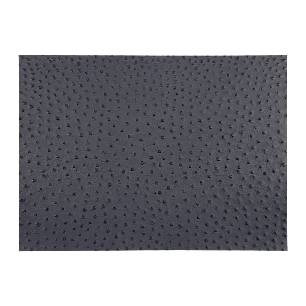A by Amara - Emu Effect Recycled Leather Placemat - Slate