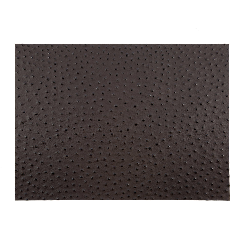A by Amara - Emu Effect Recycled Leather Placemat - Dark Chocolate