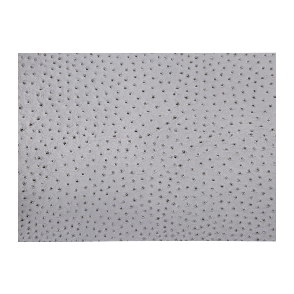 A by Amara - Emu Effect Recycled Leather Placemat - Cloud