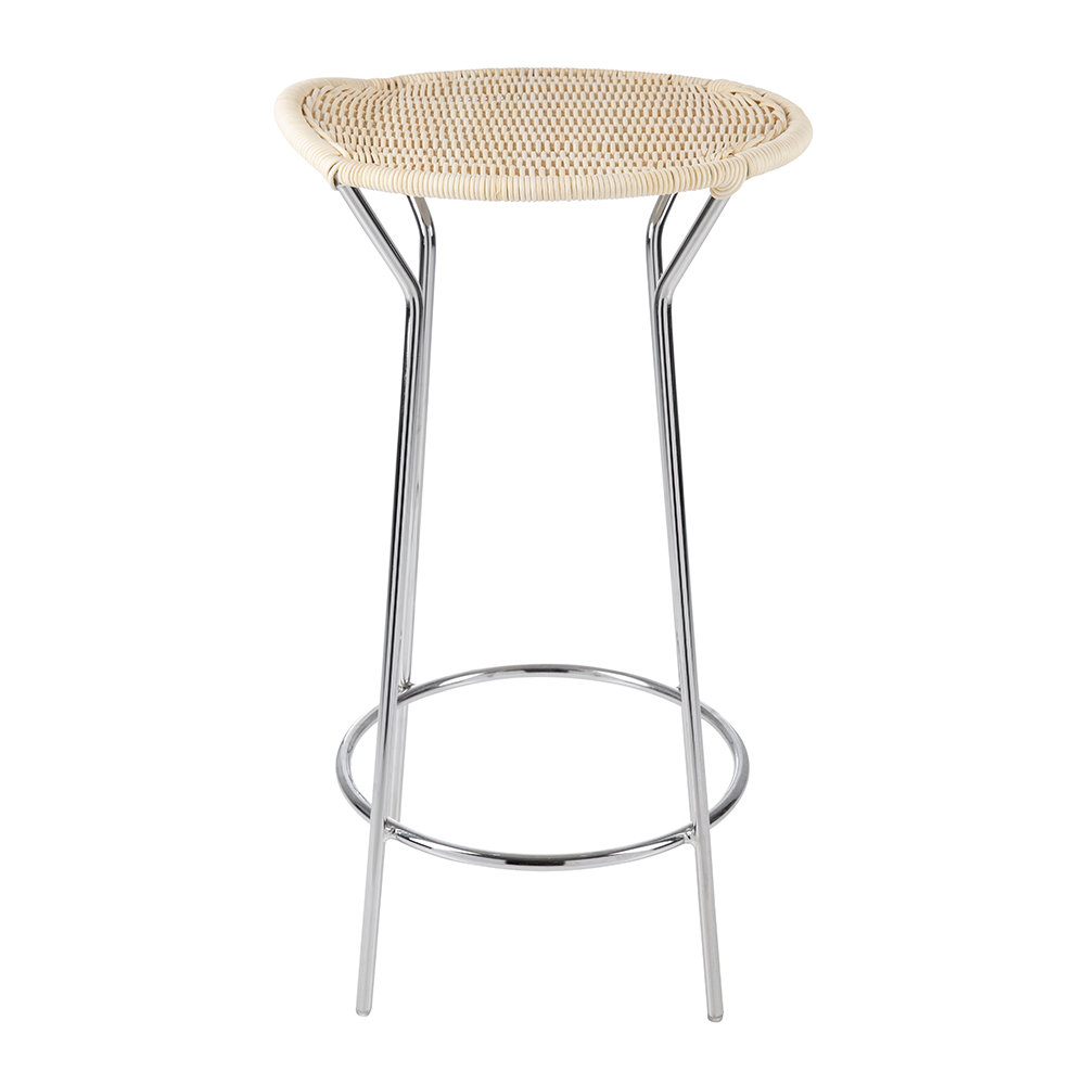 Horm & Casamania - Bar Natural Wicker Stool - 62cm