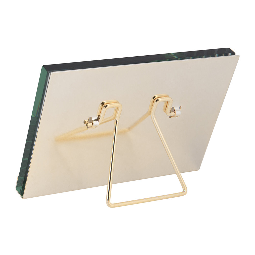 """A by AMARA - Gold Block Plated Steel Photo Frame - 4x6"""""""