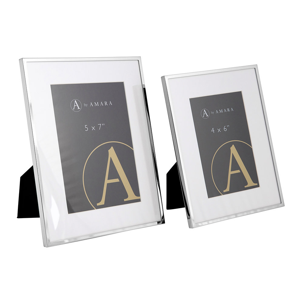 A by Amara - Silver Plated Steel Photo Frame - 5x7""
