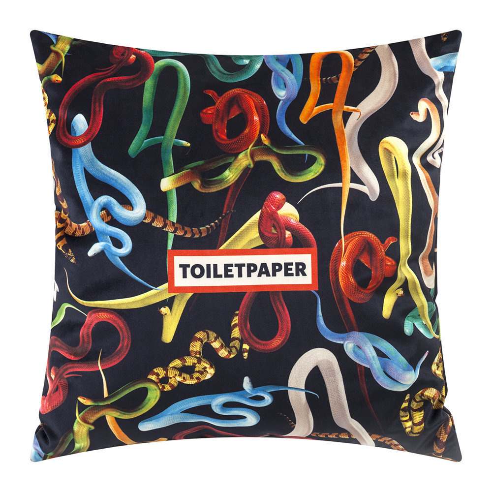 Seletti wears Toiletpaper - Toiletpaper Cushion Cover - 50x50cm - Snakes