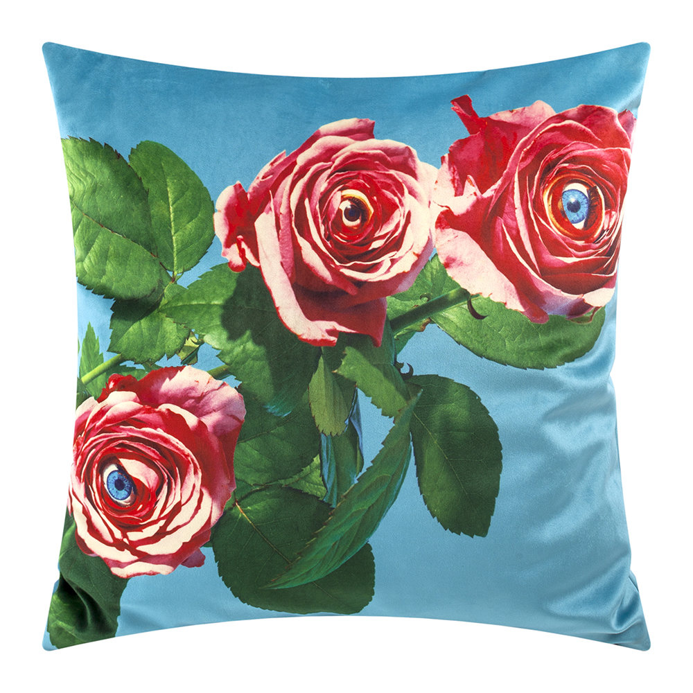 Seletti wears Toiletpaper - Toiletpaper Cushion Cover - 50x50cm - Roses