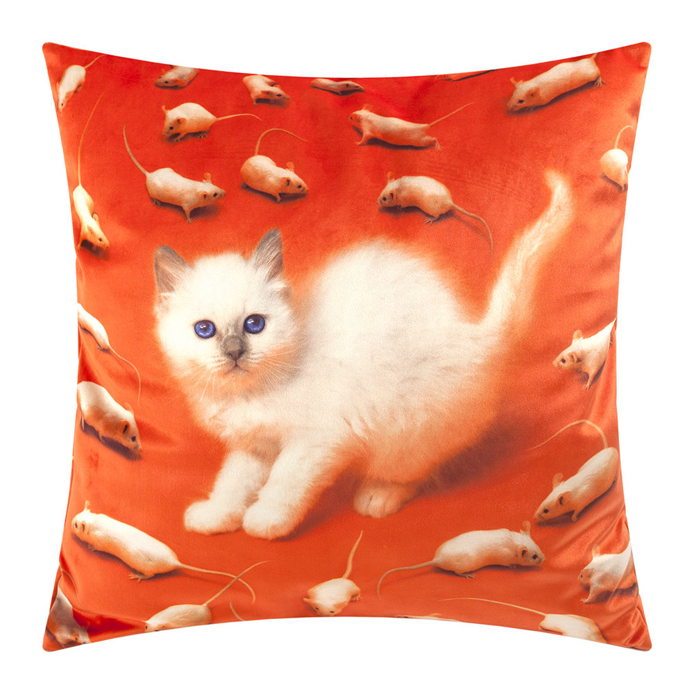 Seletti wears Toiletpaper - Toiletpaper Cushion Cover - 50x50cm - Kitten