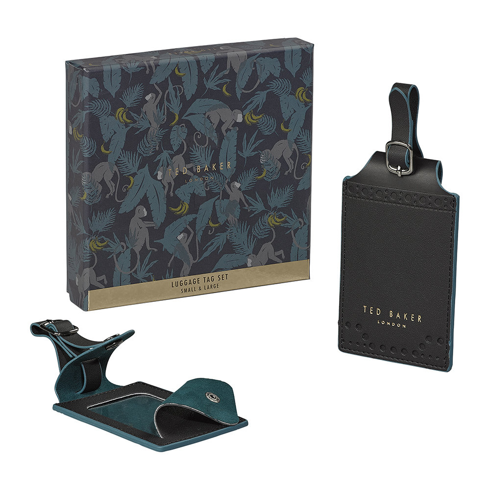 Ted Baker - Brogue Monkian Luggage Tag - Set of 2 - Black