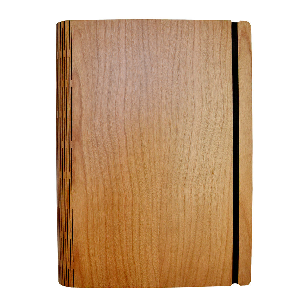 Bark  Rock - Cherry Crown Wooden Notebook - Pocket - 15.5x19cm