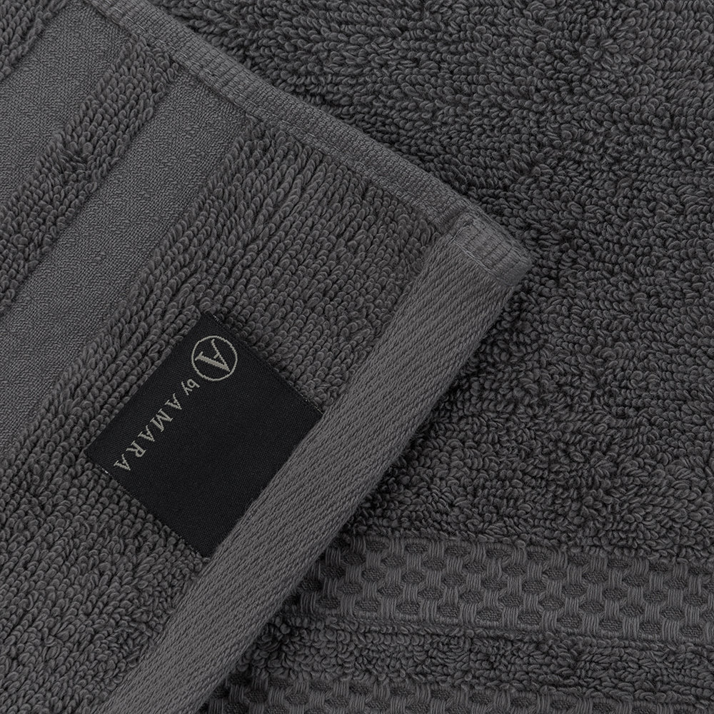 A by AMARA - Egyptian Cotton Towel - Charcoal - Hand Towel
