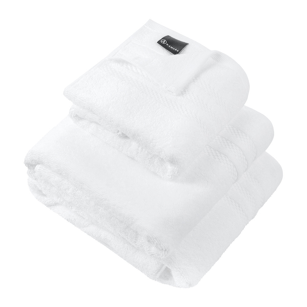A by Amara - Egyptian Cotton Towel - White - Hand Towel