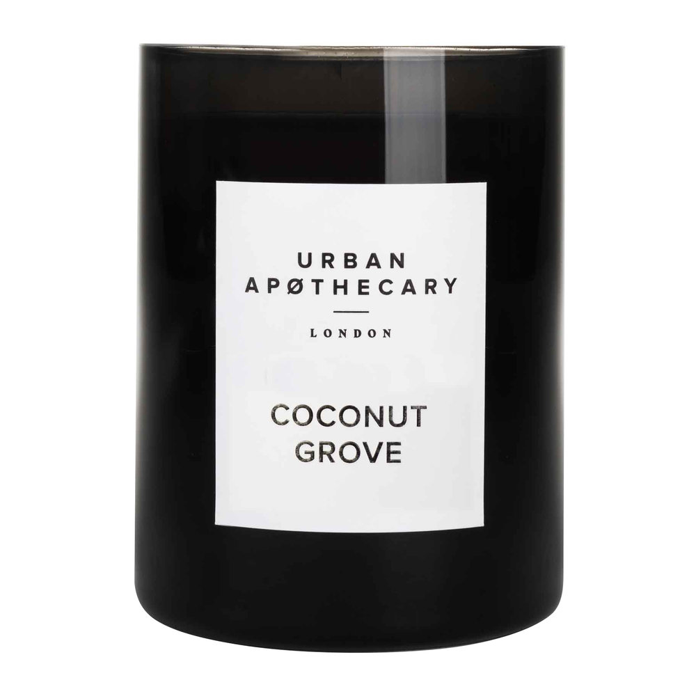 Urban Apothecary London - Luxury Scented Candle - Black Glass - Coconut Grove