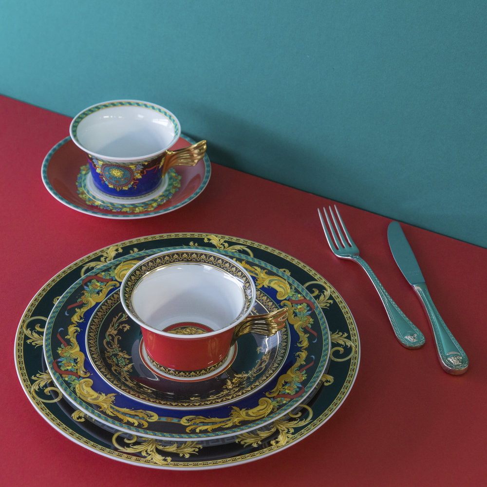 Versace Home - 25th Anniversary Le Roi Soleil Teacup & Saucer - Limited Edition