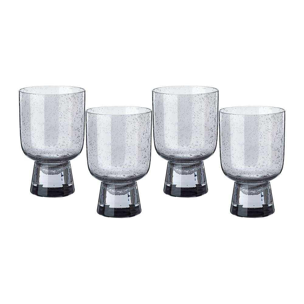 Pols Potten - Ciro Glass Tumblers - Grey - Set of 4 - Large