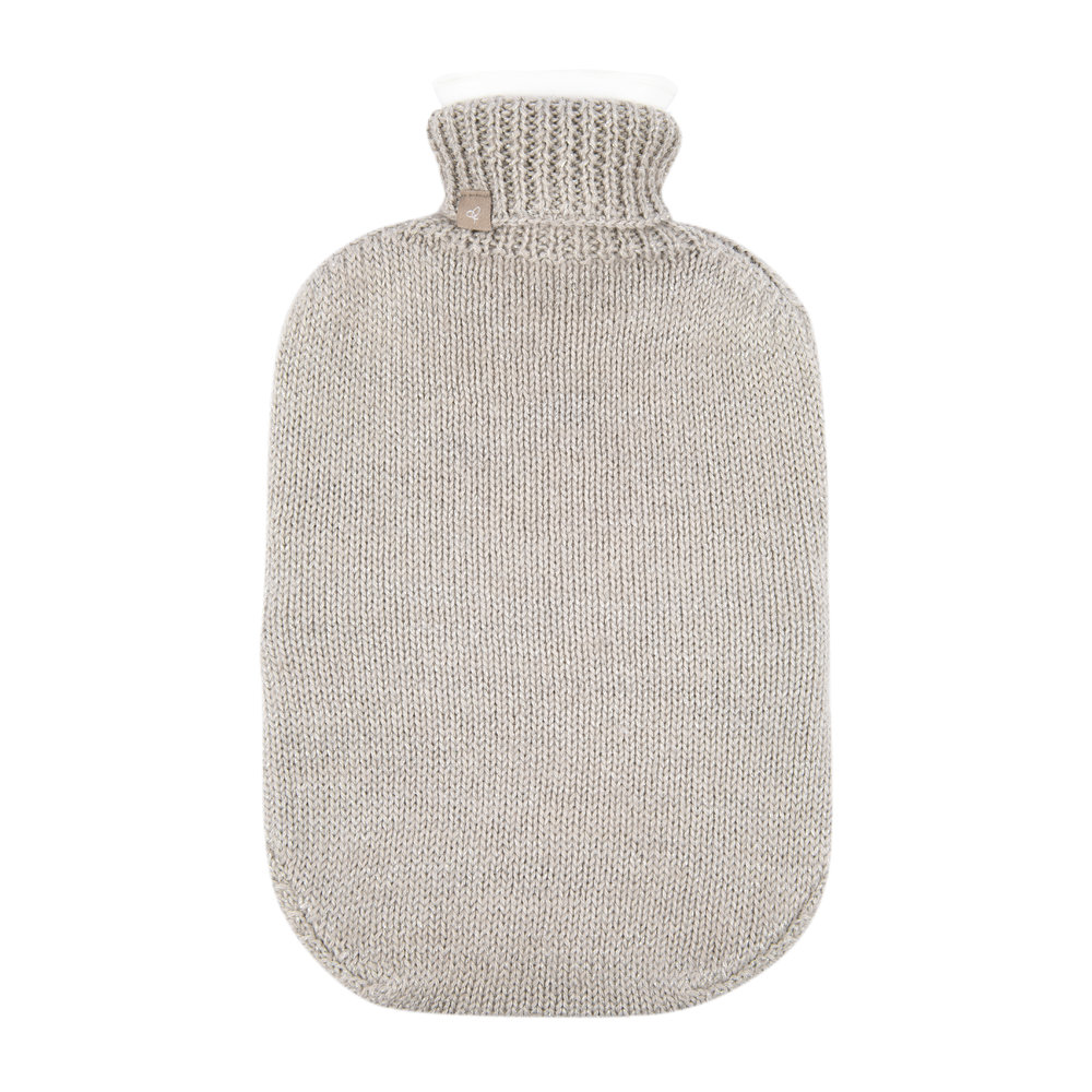 Samantha Holmes - Frost Knitted Hot Water Bottle - Oyster