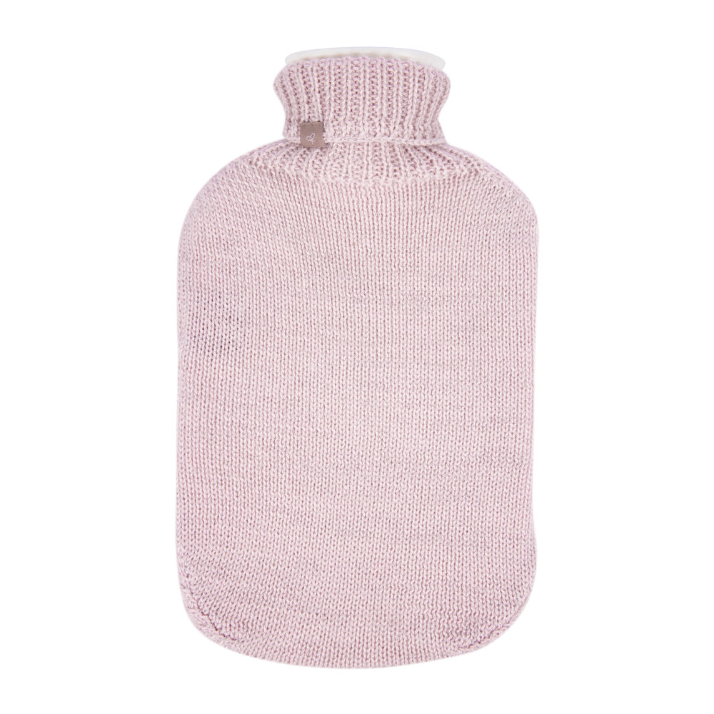 Samantha Holmes - Frost Knitted Hot Water Bottle - Pale Pink