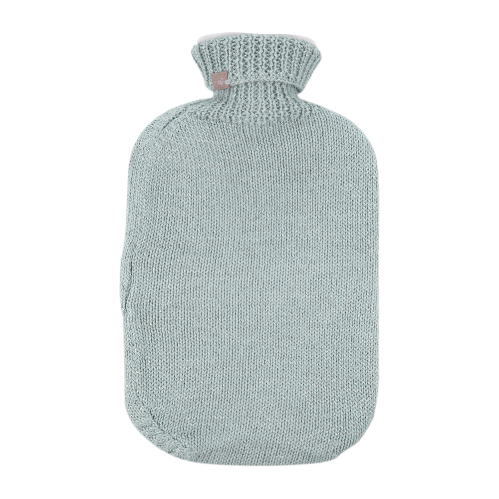 Samantha Holmes - Frost Knitted Hot Water Bottle - Duck Egg Blue
