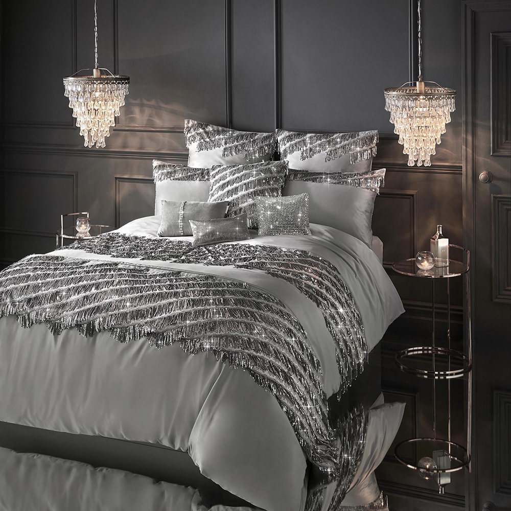 Kylie Minogue at Home - Eliza Duvet Cover - Pewter - Double