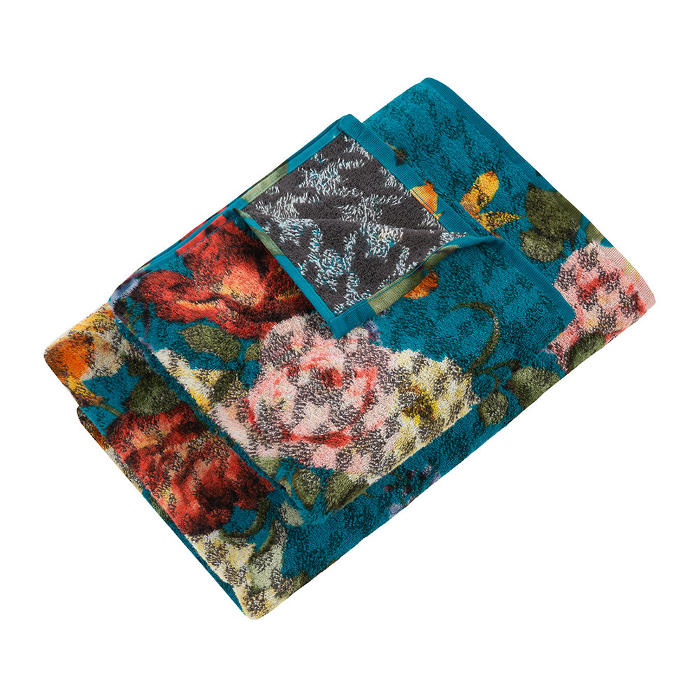 Moeve  Roses Bath Towel  Blue  Bath Towel