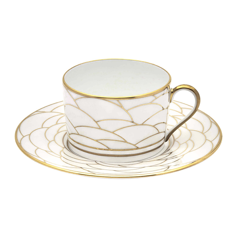 Haviland - Art Deco Teacup  Saucer
