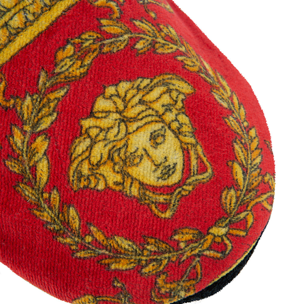 Versace Home - I Love Baroque Slippers - Black/Red/Gold