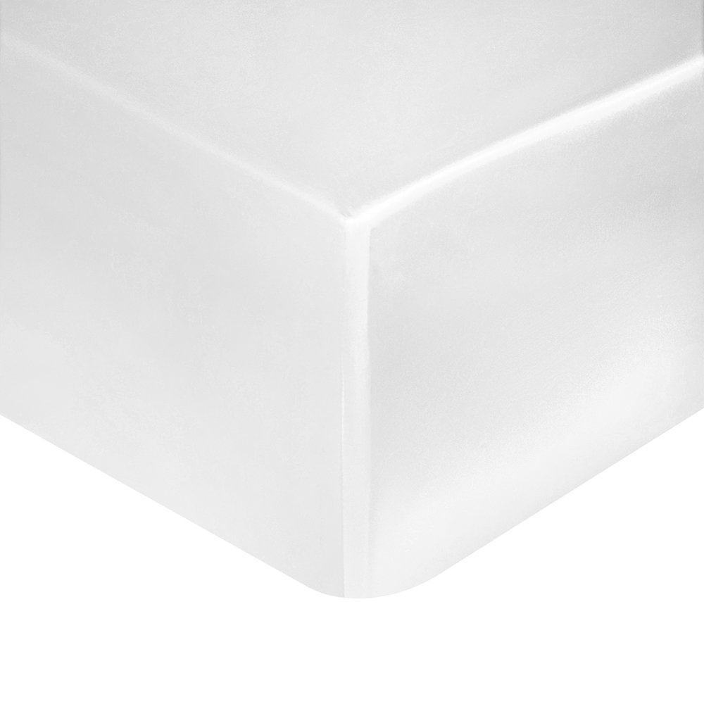 Gingerlily - 100% Silk Fitted Sheet - White - Super King
