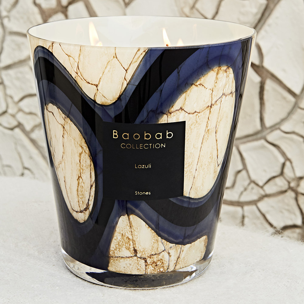 Baobab Collection - Stones Lazuli Scented Candle - 24cm