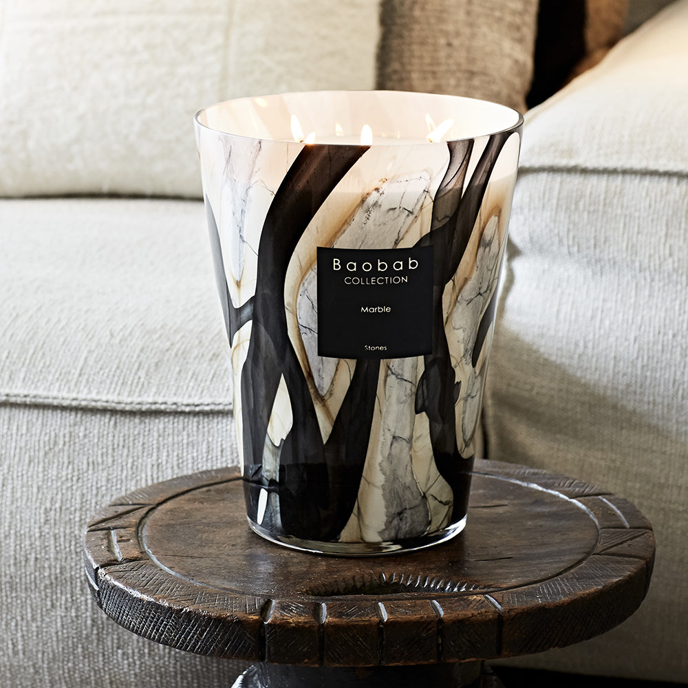 Baobab Collection - Stones Marble Scented Candle - 16cm