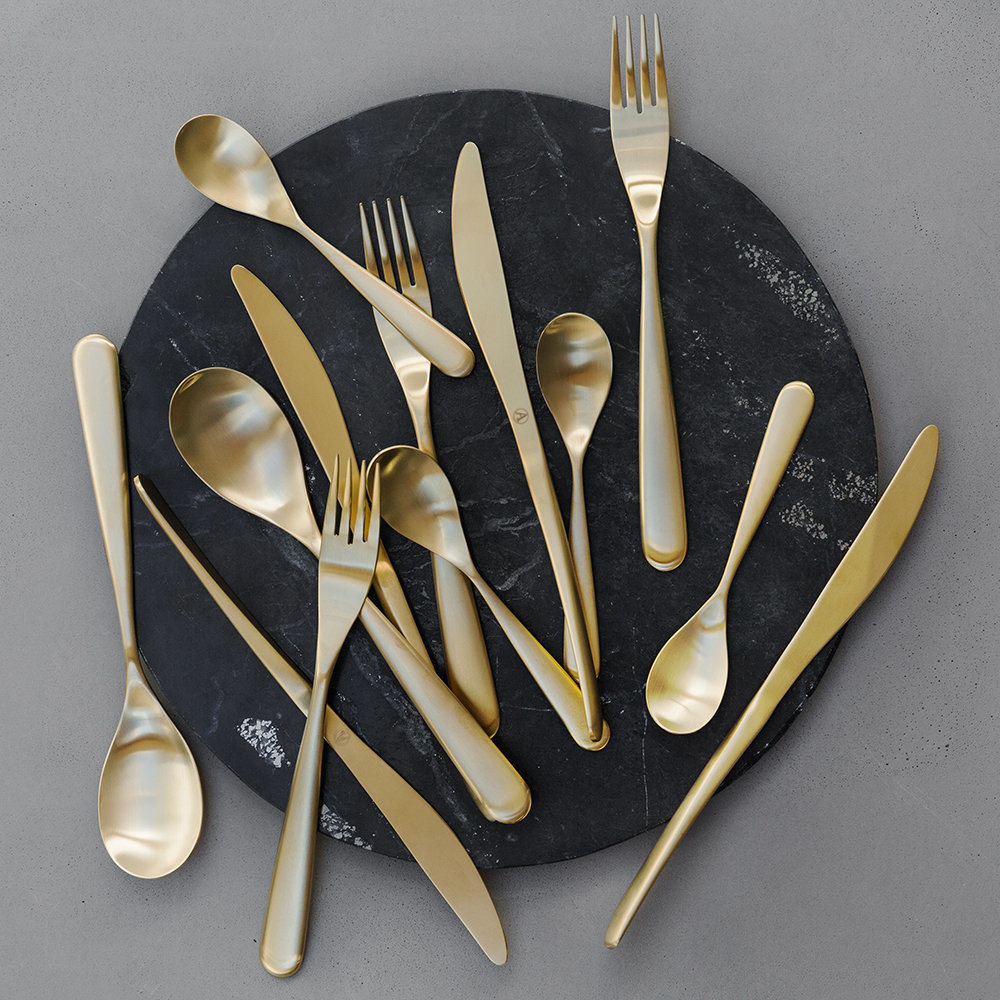 A by Amara - Paloma Matt Gold Cutlery Set - 24 Piece