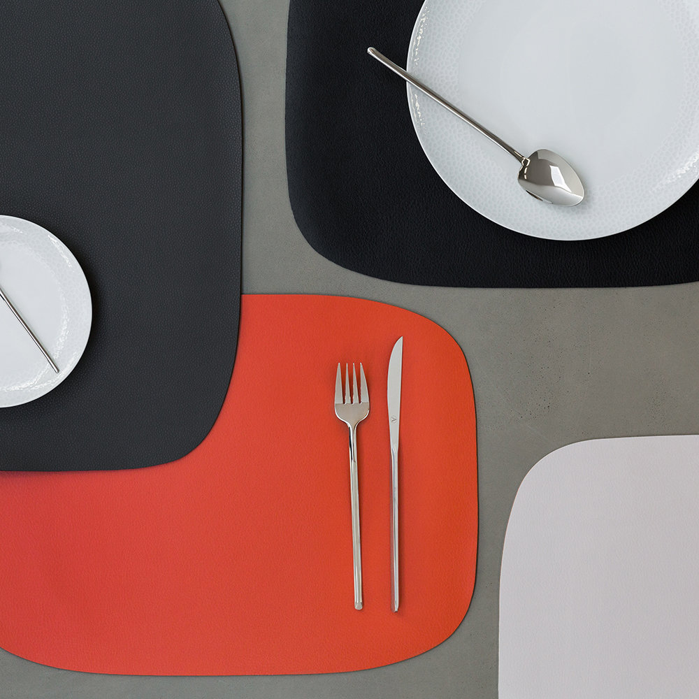 A by Amara - Vegan Leather Placemat - Orange