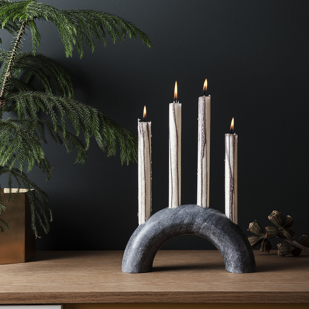 Ferm Living - Bow Candle Holder - Black