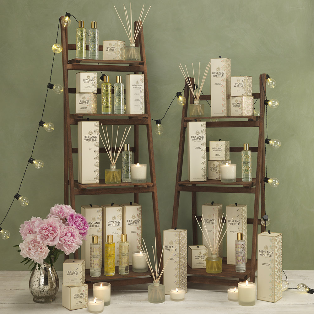 Heyland & Whittle - Gold Classic Reed Diffuser - Cherry Blossom