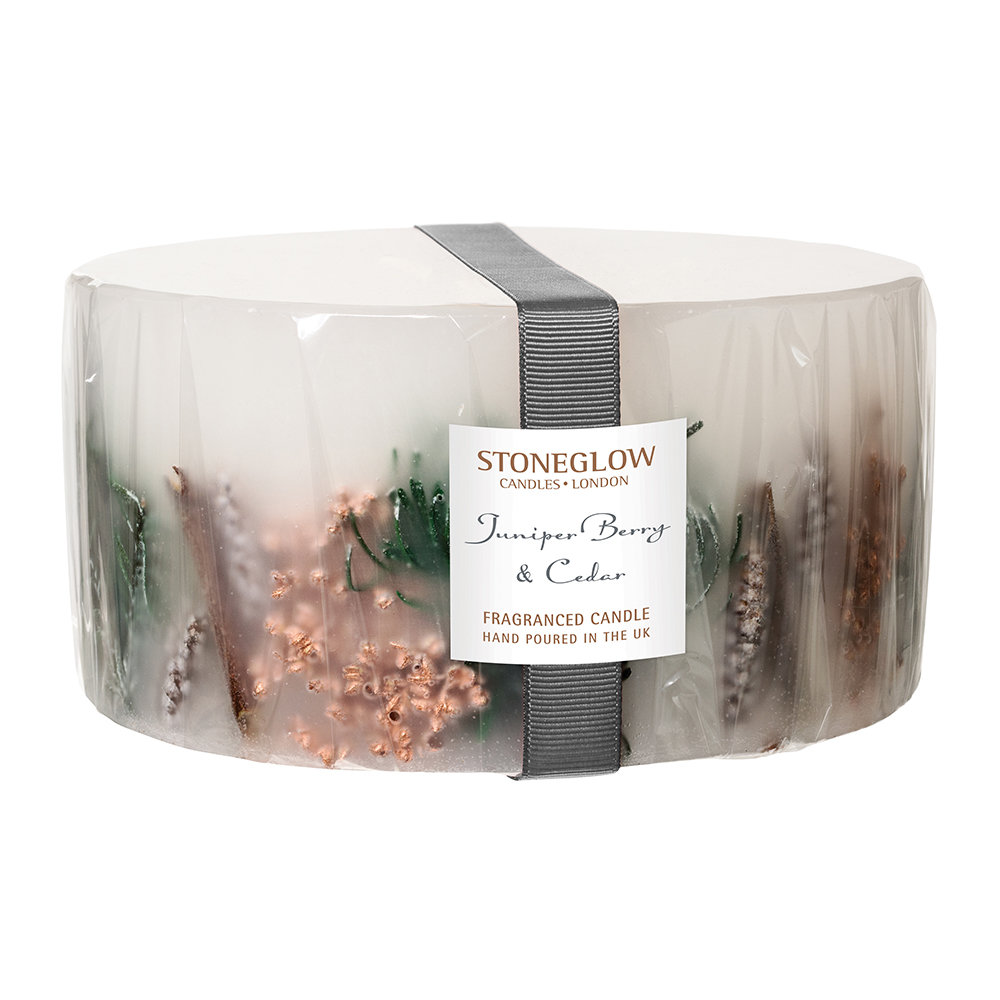 Stoneglow - Juniper Berry  Cedar 3-Wick Pillar Candle