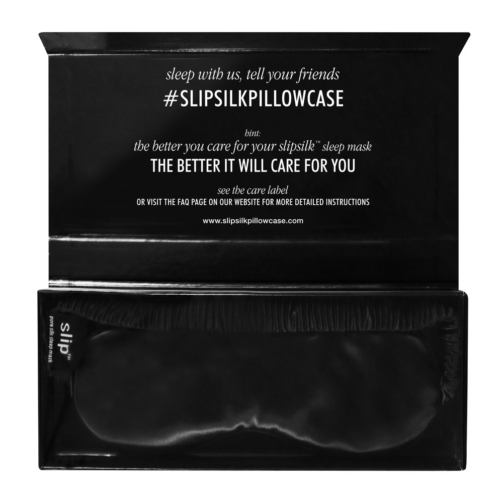 Slip - Pure Silk Eye Mask - Black