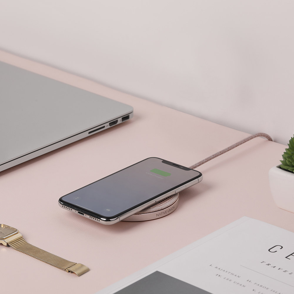 Native Union - Drop Wireless Charger Pad - Rose