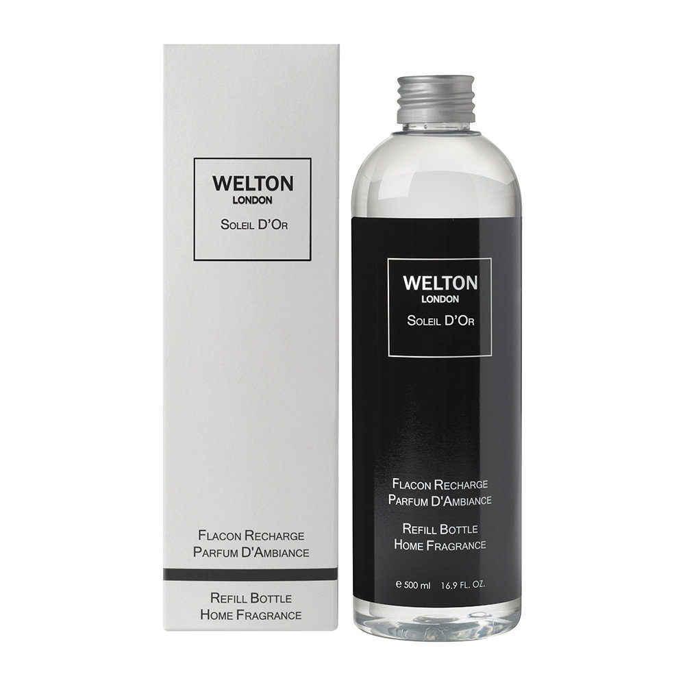 Welton London - Reed Diffuser Refill with Sticks - Soleil d'Or - 500ml