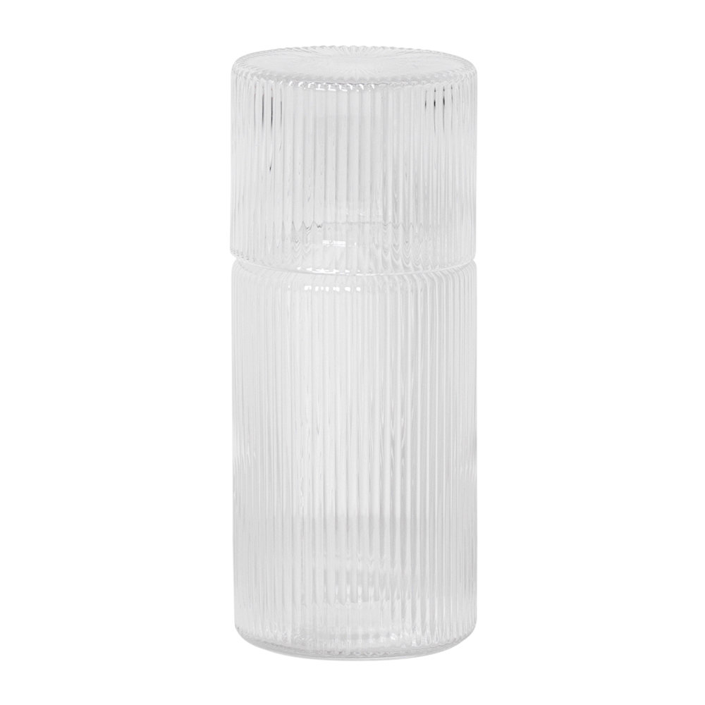 Ferm Living - Ripple Carafe Set - Clear