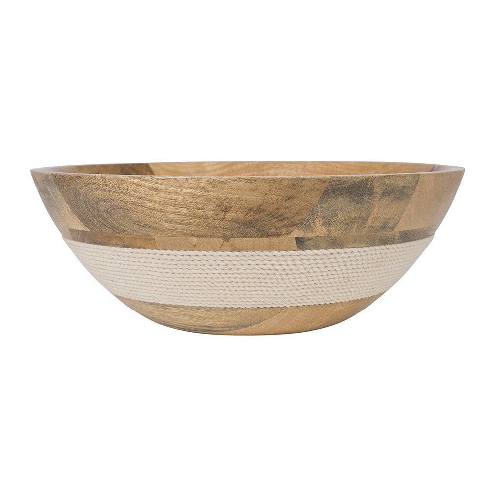 A by Amara - Wooden Rope Bowl - Small