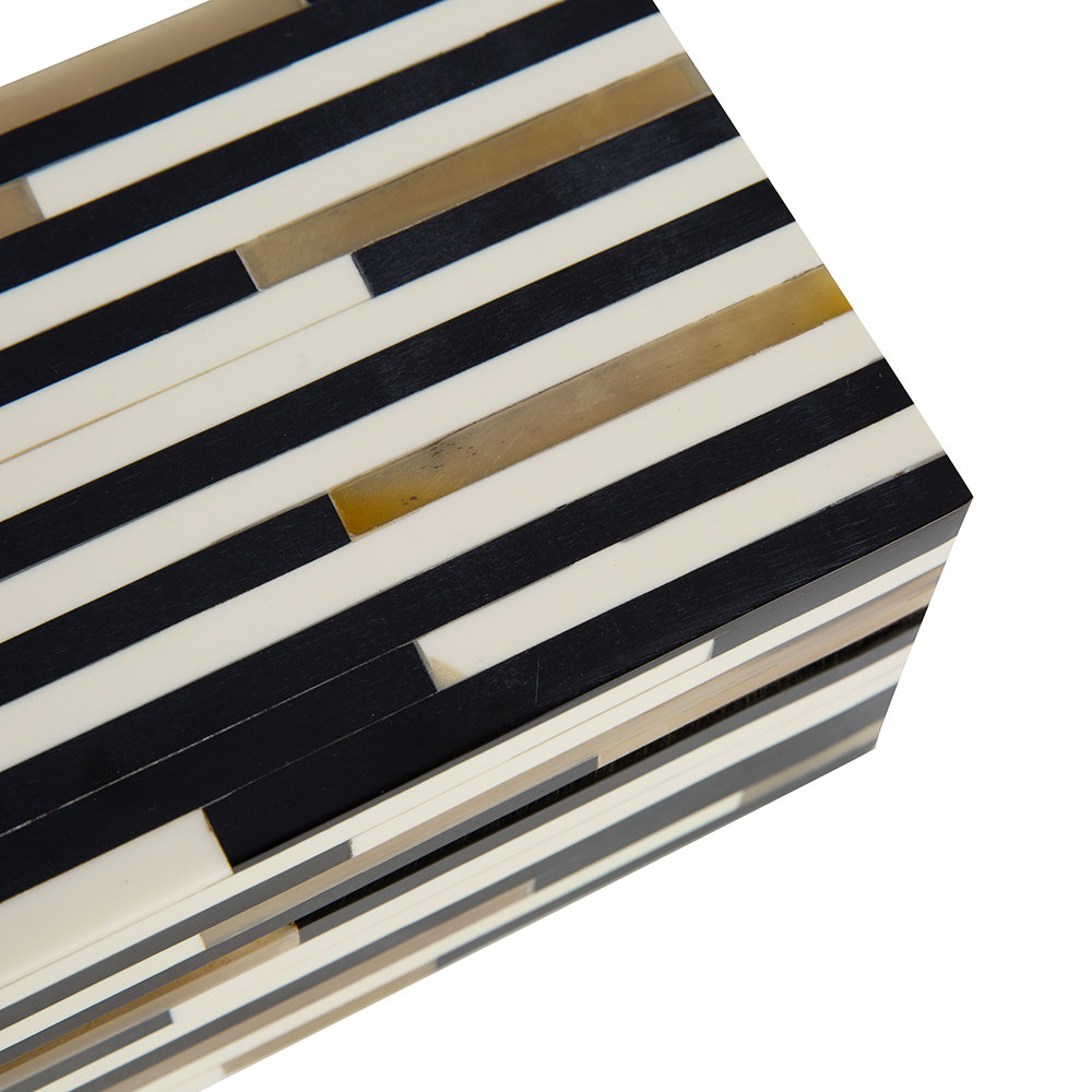 A by AMARA - Striped Resin and Horn Box