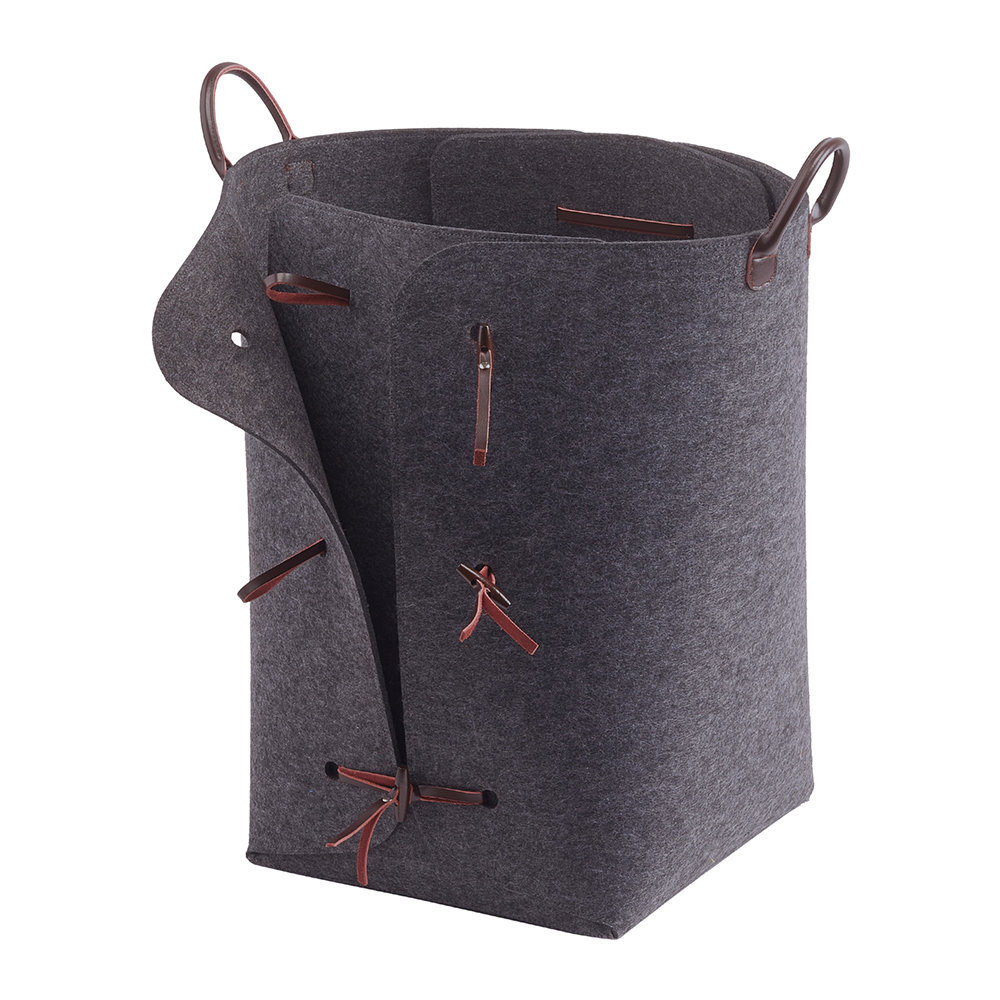 Aquanova - Resa Laundry Basket - Dark Gray