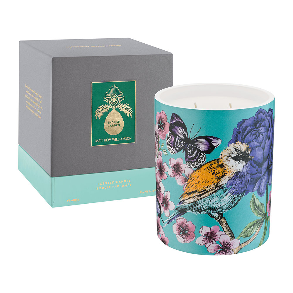 Matthew Williamson - Luxury Scented Candle - 600g - English Garden