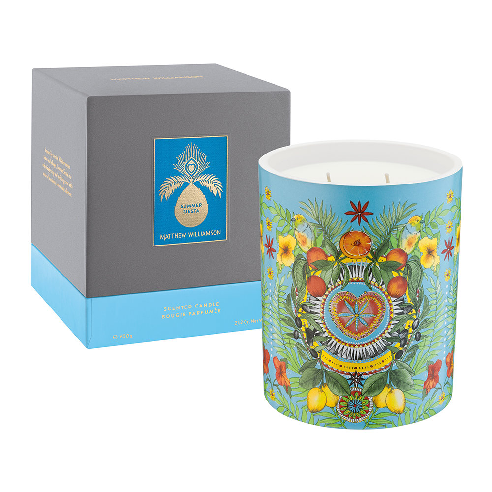 Matthew Williamson - Luxury Scented Candle - 600g - Summer Siesta