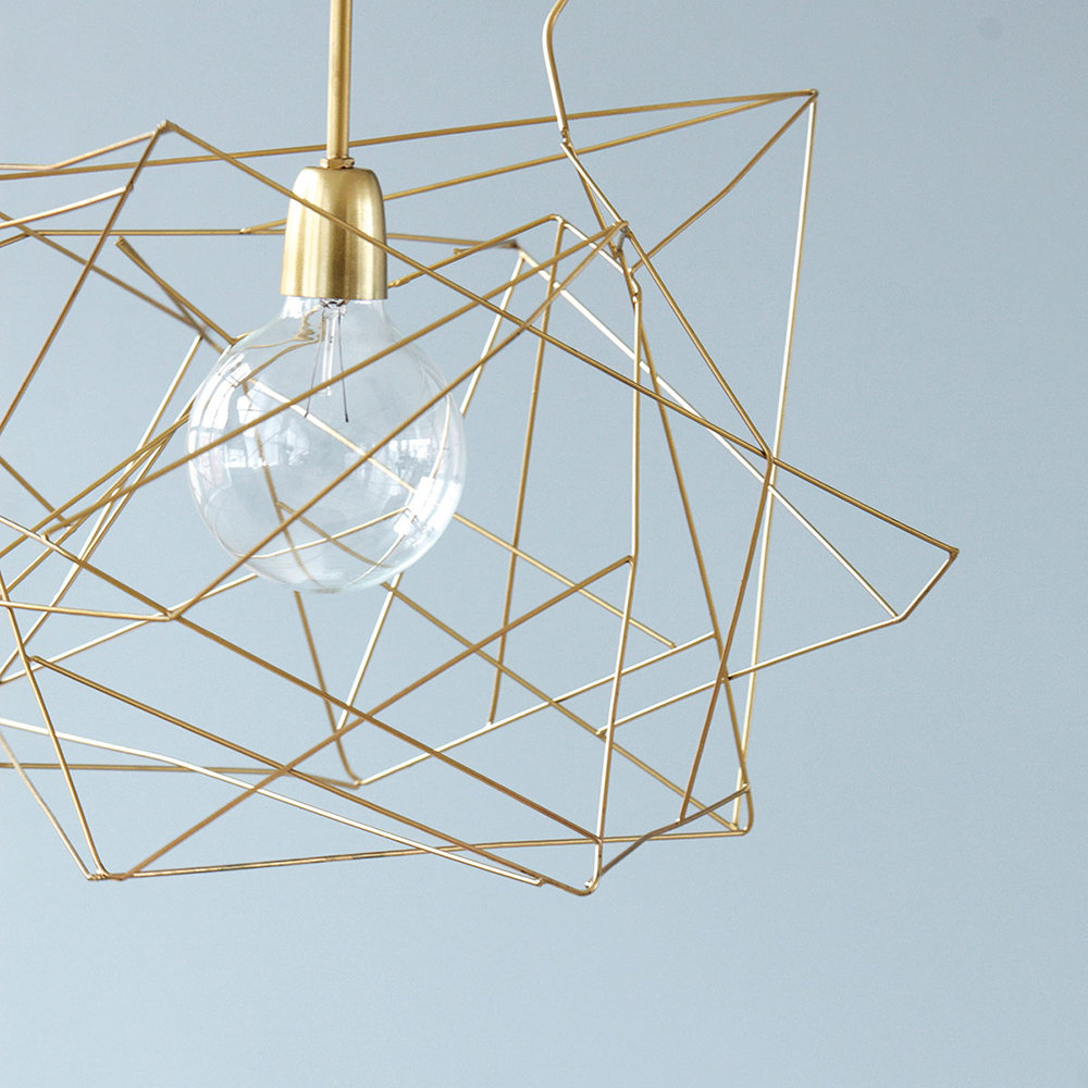 House Doctor - Asymmetric Ceiling Lamp - Shiny Gold