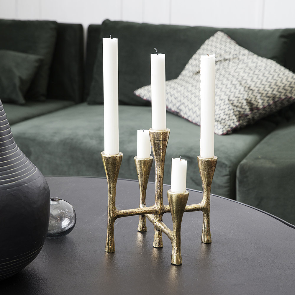 House Doctor - Tristy Candle Stand - Brass