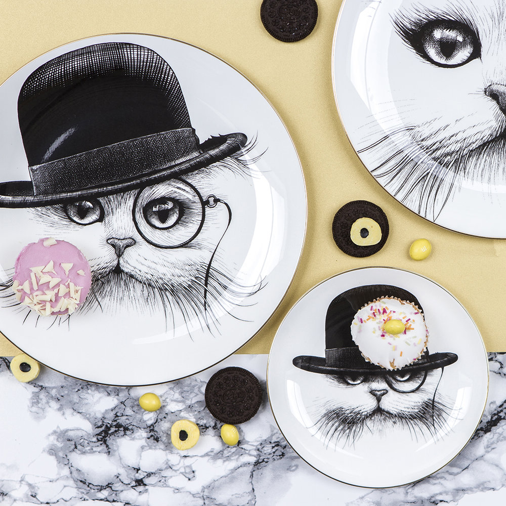 Rory Dobner - Perfect Plates - Cat with Monocle - Medium