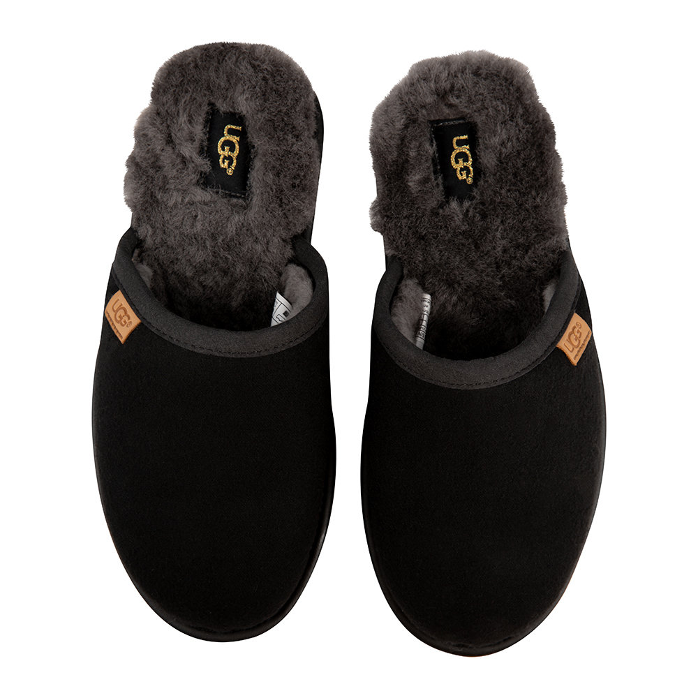 bfd5aaf4005 Buy UGG® Men s Scuff Leather Slippers - Black Gray