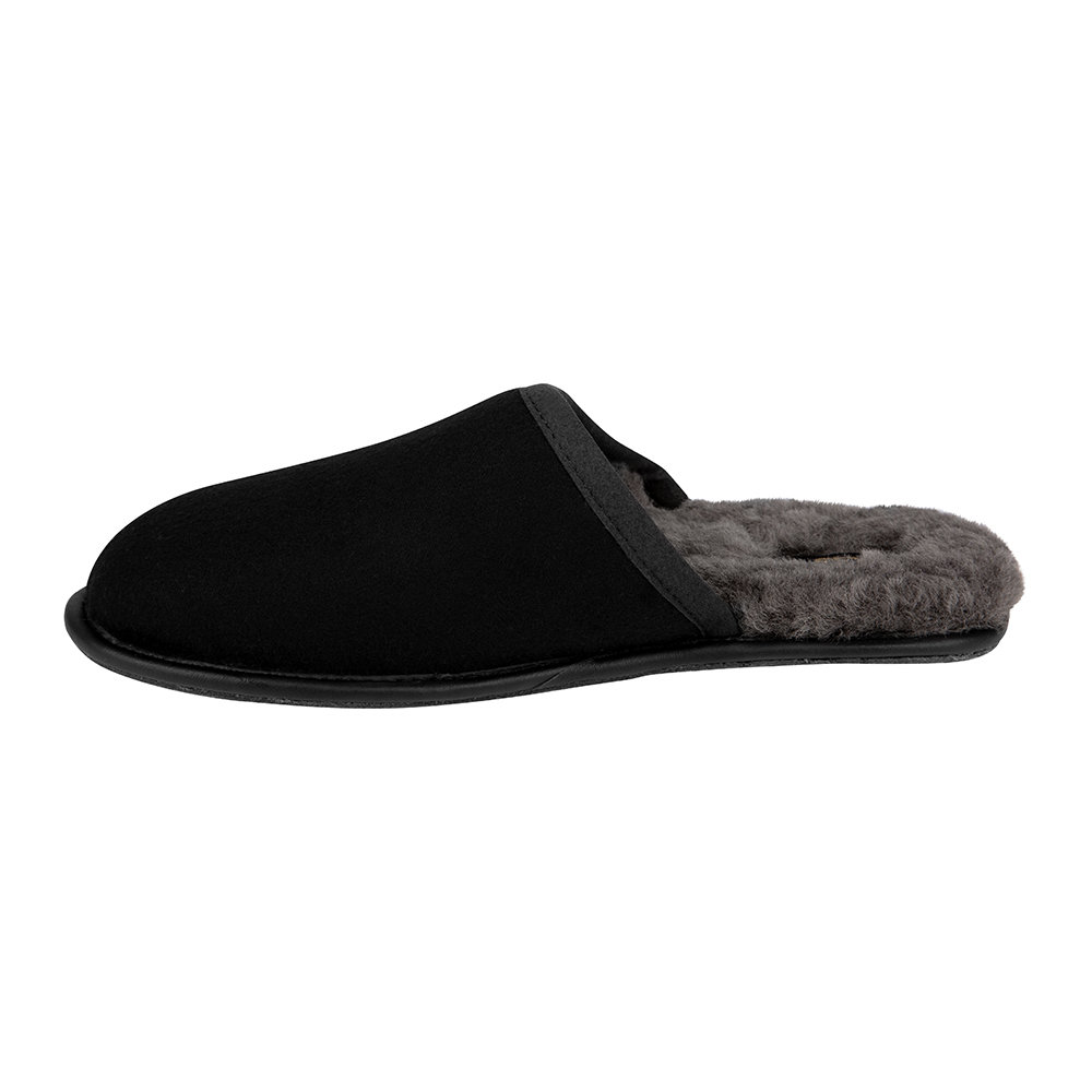 UGG® - Men's Scuff Leather Slippers - Black/Grey