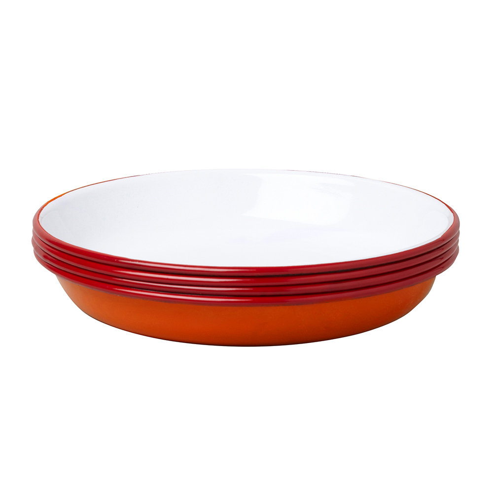 Falcon - Deep Plate - Set of 4 - Pillarbox Red