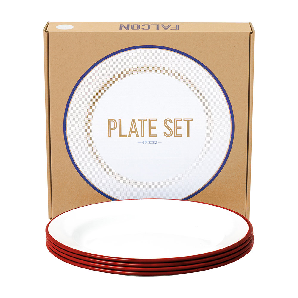 Falcon - Plate Set - Set of 4 - Pillarbox Red