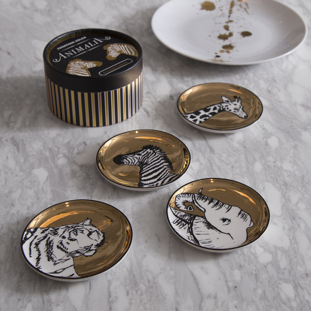 Jonathan Adler - Animalia Coasters - Set of 4